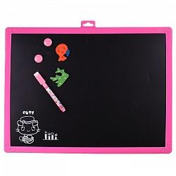 Набор для детей 2 в 1 (доска для рисования магнитно-маркерная 30*40см+губка+маркер+4мелка+4магнита)