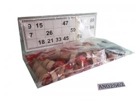 Лото деревянное (23х9.5х4.5 см) в пакете (Арт. AN02562)