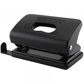 Дырокол на 10л. OfficeSpace пластиковый, черный, с линейкой P_7114/222111