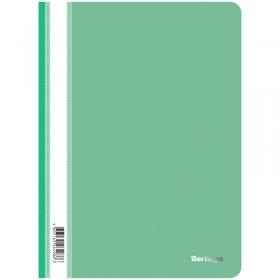 Папка-скоросшиватель пластик. Berlingo, А4, 180мкм, зеленая с прозр. верхом ASp_04104
