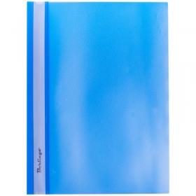 Папка-скоросшиватель пластик. Berlingo, А4, 180мкм, синяя с прозр. верхом ASp_04102