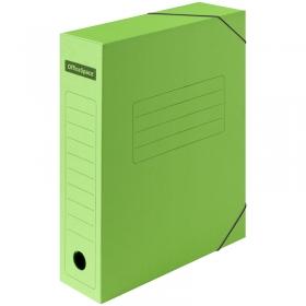 Папка архивная из микрогофрокартона OfficeSpace на резинках, ширина корешка 75мм, зеленый 225425