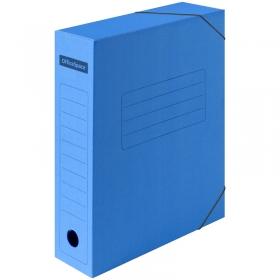 Папка архивная из микрогофрокартона OfficeSpace на резинках, ширина корешка 75мм, синий 225424