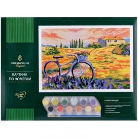 """Картина по номерам Greenwich Line """"Летняя прогулка"""" A3, с акриловыми красками, картон, КК_27769"""