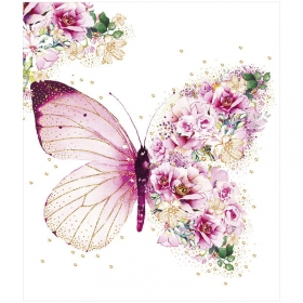 "Открытка Арт и Дизайн ""Бабочка"", 140*163мм, блестки, карточка внутри 0122.067"