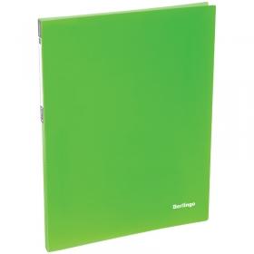 """Папка c пружинным скоросшивателем Berlingo """"Neon"""", 17мм, 700мкм, неоновая зеленая AHp_00802"""