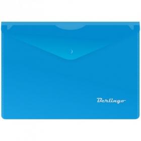 Папка-конверт на кнопке A5, 180мкм, синяя OBk_05002