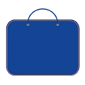 Папка для менеджера А3 (ткань) ПДМ-2 СИНЯЯ