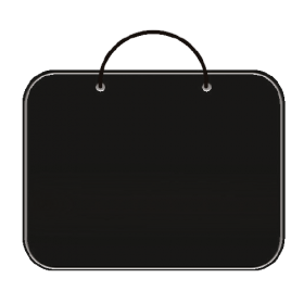 Папка для менеджера А3 (ткань) ПДМ-2 ЧЕРНАЯ