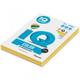 """Бумага IQ """"Color Neon Mixed Packs"""" А4, 80г/м2, 200л. (4 цвета) RB04"""