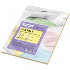 Бумага цветная OfficeSpace pale mix А4, 80г/м2, 100л. (5 цветов) 245186