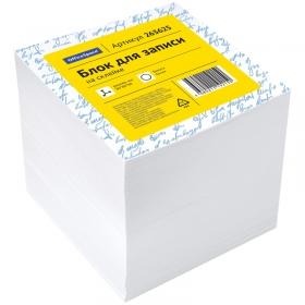 Блок для записи на склейке OfficeSpace, 8*8*8см, белый 263625