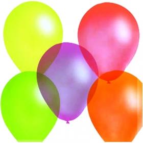 Воздушные шары, 100шт., М10/25см, ПатиБум, ассорти, флуоресцентные 4607028769283/14690296047