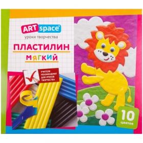 Пластилин ArtSpace, 10 цветов, 120гр, со стеком, картон PL10_16712