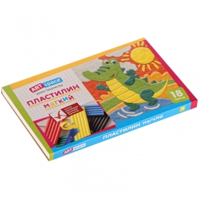 Пластилин ArtSpace, 18 цветов, 216гр, со стеком, картон PL18_16714