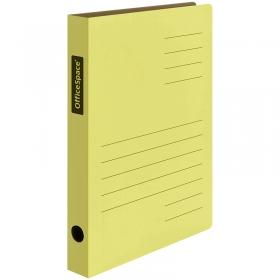 Скоросшиватель из микрогофрокартона OfficeSpace, ширина корешка 30мм, желтый 235069