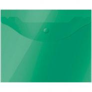 Папка-конверт на кнопке OfficeSpace А5 (190*240мм), 150мкм, полупрозрачная, зеленая 267529