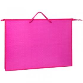 """Папка для чертежей и рисунков А3 ArtSpace """"Моноколор"""", розовый, пластик, на молнии ПР-3-20_15640"""