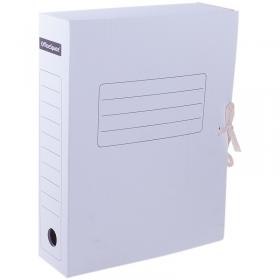 Папка архивная из микрогофрокартона OfficeSpace с завязками, ширина 75мм, 320*250 белый 158550