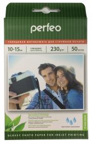 Фотобумага А6 PERFEO (10х15) глянцевая (PF-GLR4-230/50) (G02) 50л, 230г/м2