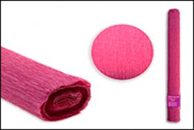 Цветная крепированная бумага 50х250 см, оттенок 5, ФУКСИЯ S 1326
