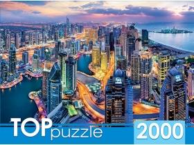TOPpuzzle. ПАЗЛЫ 2000 элементов. ГИТП2000-4847 Дубай с высоты птичьего полёта