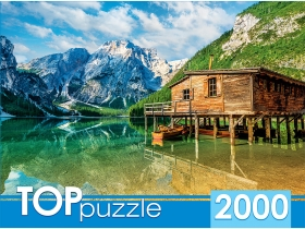 TOPpuzzle. ПАЗЛЫ 2000 элементов. ГИТП2000-4848 Италия. Летнее озеро Брайес