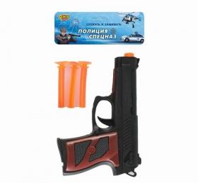 """Пистолет """"Пистолет спецназа"""" (3 мягких дротика) в пакете (Арт. M0344)"""