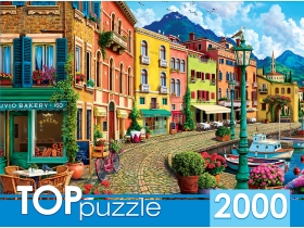 TOPpuzzle. ПАЗЛЫ 2000 элементов. ХТП2000-1595 Прогулка по солнечной набережной