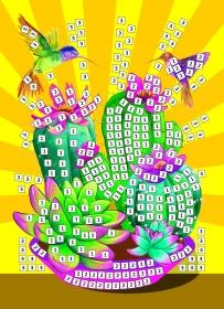 МОЗАИКА МЯГКАЯ. формат А5 (21х15 см). ЯРКИЕ КАКТУСЫ (Арт. М-2602)