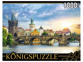 Konigspuzzle. ПАЗЛЫ 1000 элементов. ГИK1000-0635 ПРАГА. КАРЛОВ МОСТ