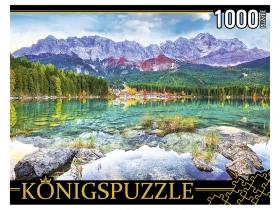 Konigspuzzle. ПАЗЛЫ 1000 элементов. ГИK1000-0639 ГЕРМАНИЯ. ОЗЕРО АЙБЗЕЕ