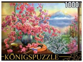 Konigspuzzle. ПАЗЛЫ 1000 элементов. РУКK1000-3819 О. ДАНДОРФ. БУКЕТ САКУРЫ