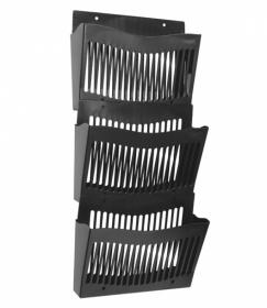 Набор из 3-х лотков настенных СТАММ чёрный ЛТ931
