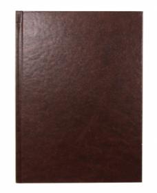 Ежедневник А5, 128 л. (128-4929) КОРИЧНЕВЫЙ  бумвинил недатированный