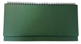 Планинг 56 л. недатир. ГЛОСС зелёный (56-1505) гребень, кожзам, 355х190мм