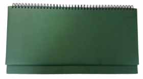 Планинг 56 л. недатир. ГЛОСС светло-коричневый (56-1507) гребень, кожзам, 355х190мм