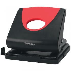 """Дырокол Berlingo """"Office Soft"""" 20л., пластиковый, красный, с линейкой DDp_20163"""