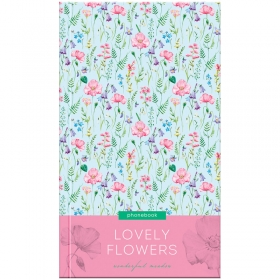 "Телефонная книга А5, 80л., 7БЦ, OfficeSpace ""Цветы. Lovely flowers"", выборочный уф-лак, с высечкой Т"