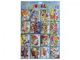Пазлы для детей 9 эл. на картонном дисплее (16 пакетов по 2 единицы) №1 (Арт. П9-1596)