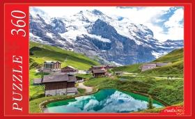ПАЗЛЫ 360 элементов. Кристальное озеро в горах  КБ360-0647