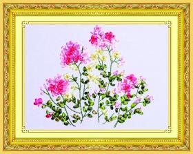 Набор для вышивания лентами 38х48 см. Летние цветы Арт. C-0314
