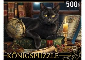 Konigspuzzle. ПАЗЛЫ 500 элементов. ХК500-6306 КОТ И СВЕЧА
