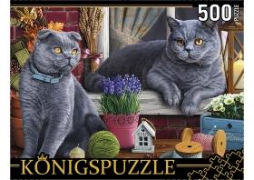 Konigspuzzle. ПАЗЛЫ 500 элементов. ХК500-6307 БРИТАНСКИЕ КОТЫ