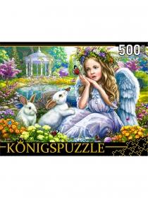 Konigspuzzle. ПАЗЛЫ 500 элементов. ХК500-6309 АНГЕЛОЧЕК И КРОЛИКИ