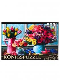 Konigspuzzle. ПАЗЛЫ 500 элементов. ХК500-6313 ЯРКИЕ БУКЕТЫ