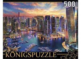 Konigspuzzle. ПАЗЛЫ 500 элементов. ХК500-6318 НОЧНЫЕ ОГНИ ДУБАЯ