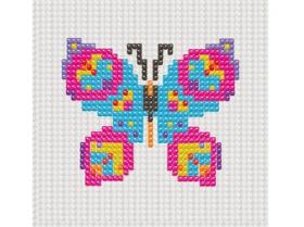 Набор для вышивания бисером для малышей. 33х40 кл. БАБОЧКА (Арт. НШ-7303)