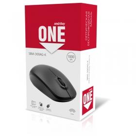 Мышь беспроводная Smartbuy One, USB, черная, 2btn+Roll SBM-300AG-K