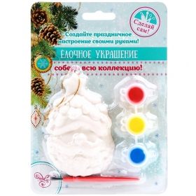 """Новогодний набор для творчества """"Новогоднее подвесное украшение Дед Мороз со Звездочкой"""" 80870"""